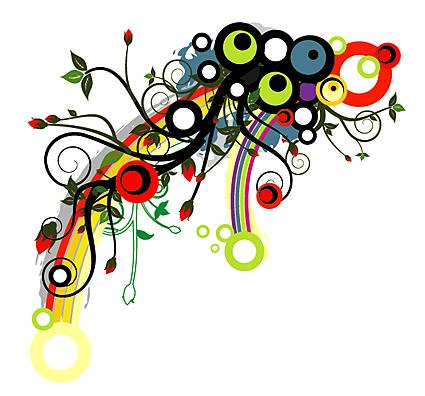 Los patrones de la marea de flores vectoriales