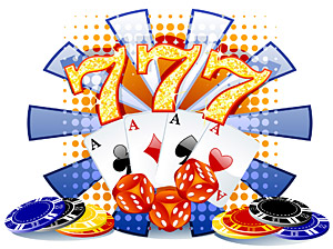 도박 테마 벡터 소재