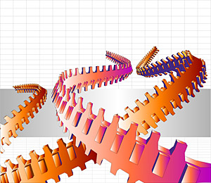 Matériau de lignes Cool vectoriel tridimensionnel