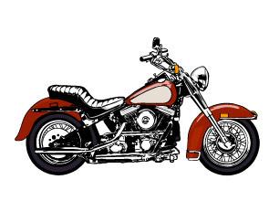 クールなバイクのベクター素材