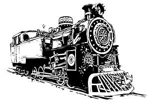 黒と白の機関車 vec