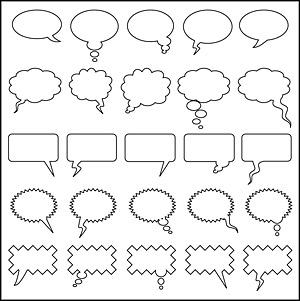 対話の泡の要素のベクトル