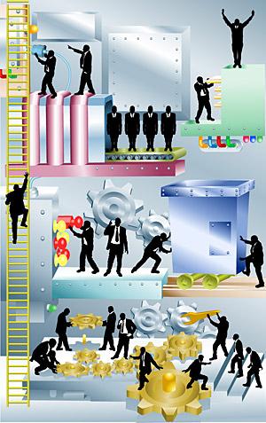 Ilustraciones vectoriales de negocio