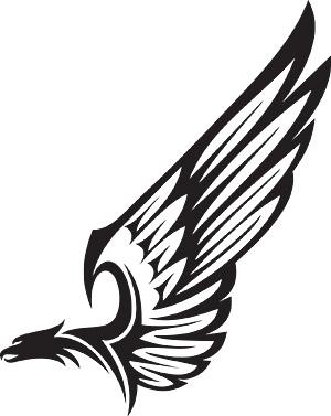 Parte del material de vector de tótem de águila