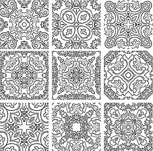 古典的なパターン ベクトルのロゴ