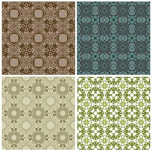 古典的なタイル パターン ベクトル