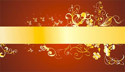 Gold wunderschöne Muster Vektor-1