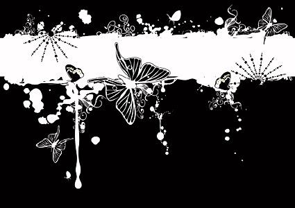 Patrones de moda de mariposa y material de vectores