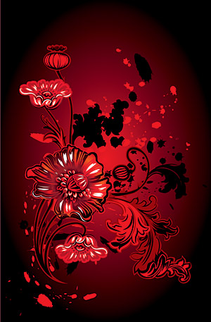 Matériau de vecteur fleur tendance patron élément