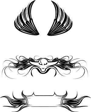 Elementos de materiales de vector de las alas de tendencia