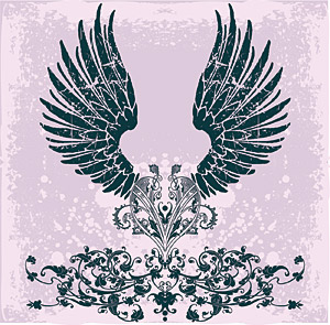 パターンやトレンドの翼要素ベクトル材料