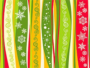 Material de fondo de vectores de copos de nieve de Navidad