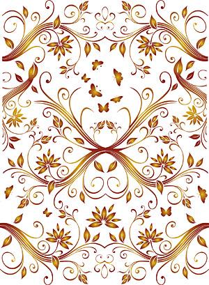 Vektor wunderschöne Muster Hintergrund-material