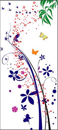 ベクトル蝶のパターンと材料