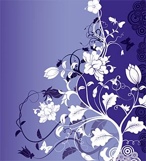 ファッション花のベクトル