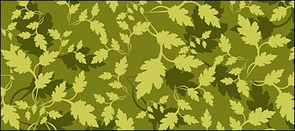Vetor de plano de fundo de folha verde