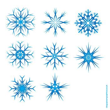 Material de vetor de flocos de neve do Natal