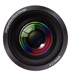 クールなカメラ レンズ素材をベクトルします。