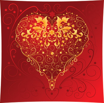 Heart-shaped Vektor Material-7