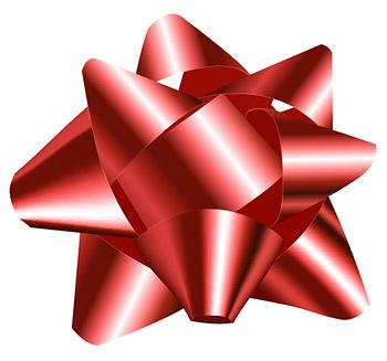 赤いリボン ボール ベクトル