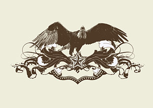 Hawks y el patrón de material de vectores