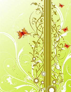 背景パターンと蝶ベクトル