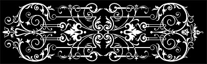 วัสดุเวกเตอร์ลวดลายสีดำและสีขาว