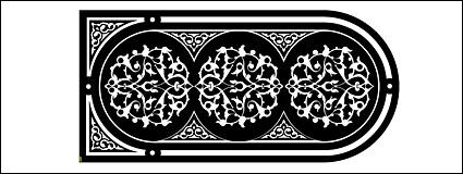 ลวดลายสีดำและสีขาวเวกเตอร์วัสดุ-2