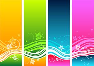 Material de vectores de manera dinámica color patrón