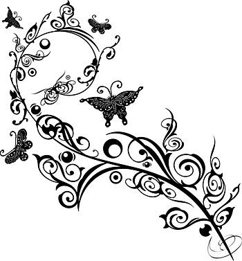 Mariposa y patrones de vectores