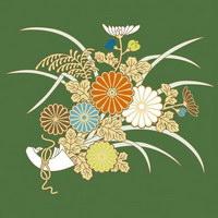 Plantas de flor 3 série pictórica tradicional vector