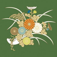 Plantas de flor 3 serie pictórica tradicional de vector