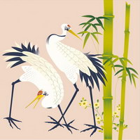 Вектор традиционных живописные серии 8-животные
