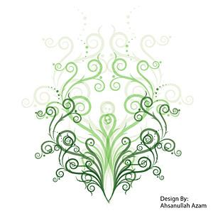 緑のパターン ベクトル材料