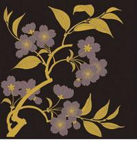 Plantas de 1 flor tradicional serie pictórica de vectores
