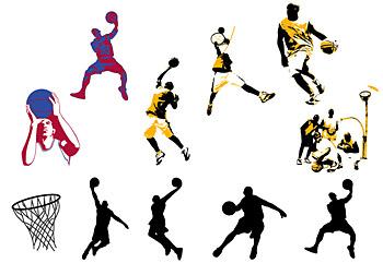 バスケット ボールのテーマのベクター素材