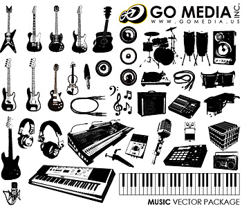 이동 미디어 생산 벡터 소재 (set8)-악기