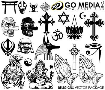 Vá mídia produzida vector material (set8) - religião