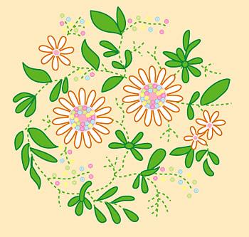 Vektor materiell Cartoon Blumen