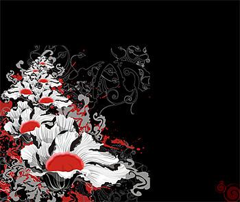 แฟชั่นดอกไม้วัสดุองค์ประกอบของเวกเตอร์