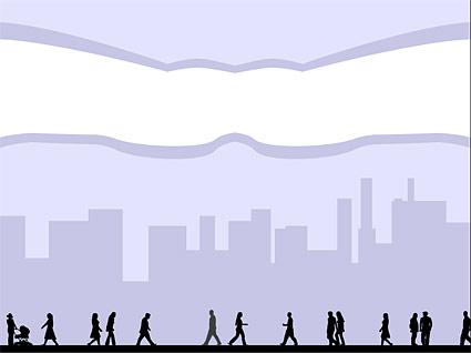 市の数字のベクター素材