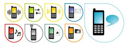 Icono del teléfono vector