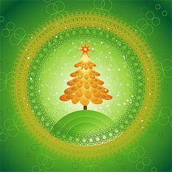 Árbol de Navidad especial de material de vectores