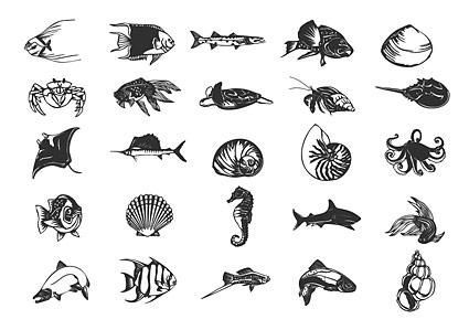 Vie de poisson et de la marine