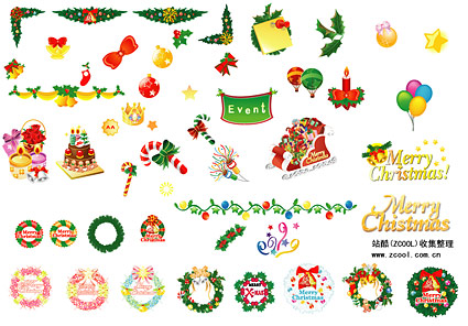 Éléments de décoration de Noël