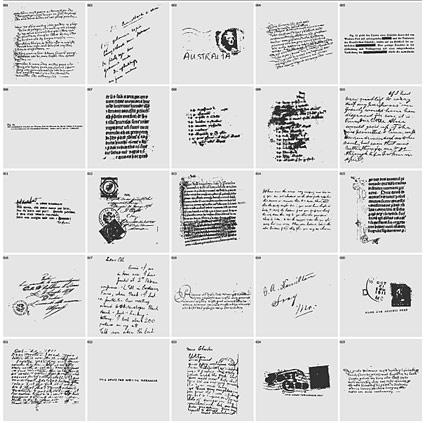 英語の手書き文字消印ベクトル材料