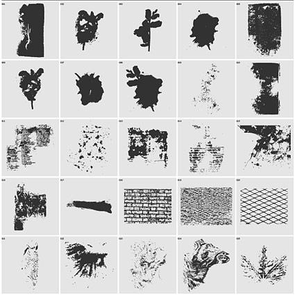 La tinta y el tema de paredes material de vectores