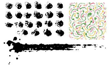 ベクトル伝統的なインク画像素材