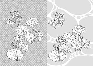 Dibujo de líneas de flores -21