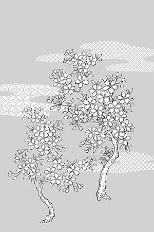 花-25 の線の描画